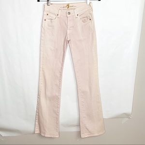 7 For All Mankind Blush Pink Bootcut Jeans